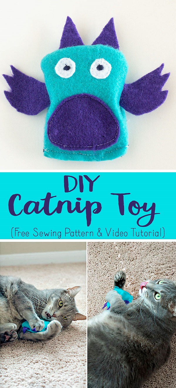 Sewing tutorial: Felt catnip toy, with free pattern
