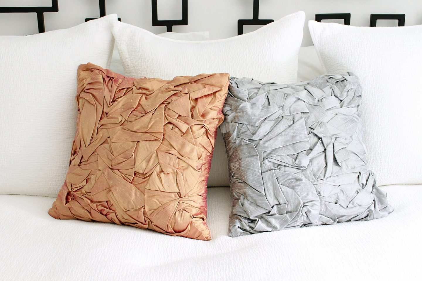 Sewing tutorial: Designer inspired folded silk pillow