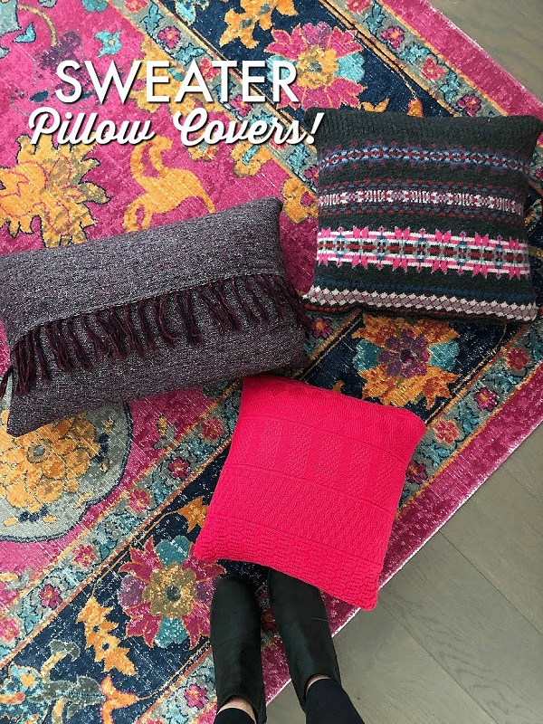 Sewing tutorial: Easy sweater pillow covers