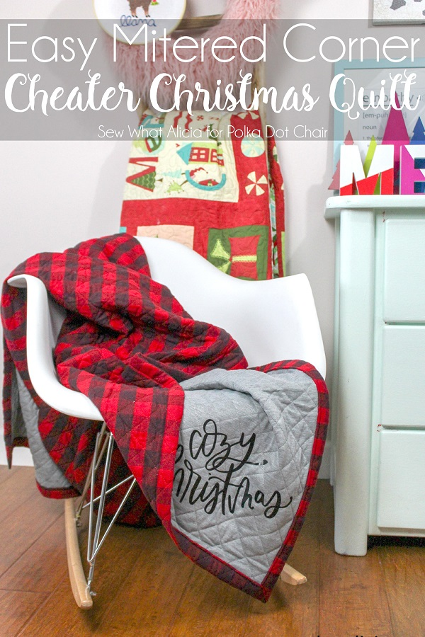 Sewing tutorial: Easy cheater Christmas quilt
