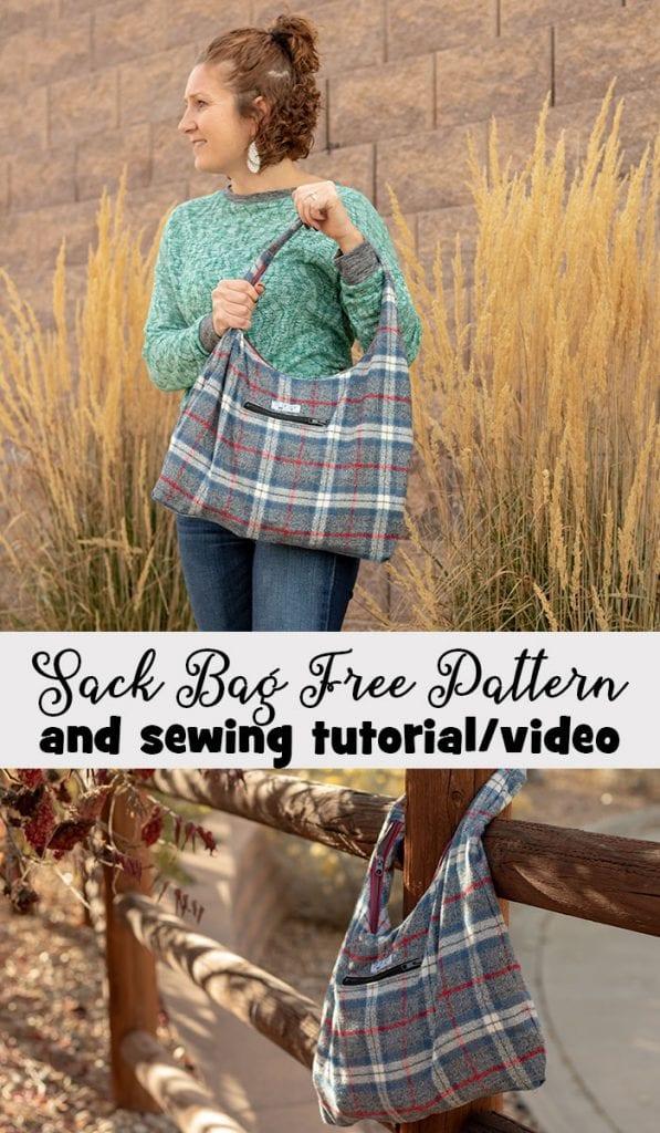 Free sewing pattern: Wool sack bag