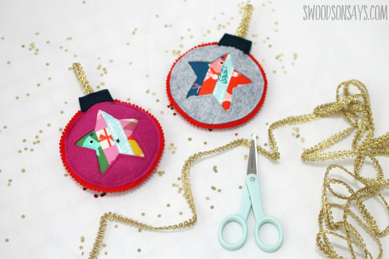 Sewing tutorial: Patchwork and felt Christmas ornaments