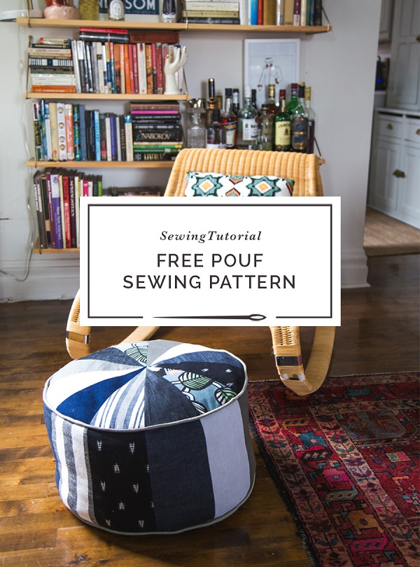 Sewing Tutorial Scrapbusting Diy Pouf Ottoman Sewing