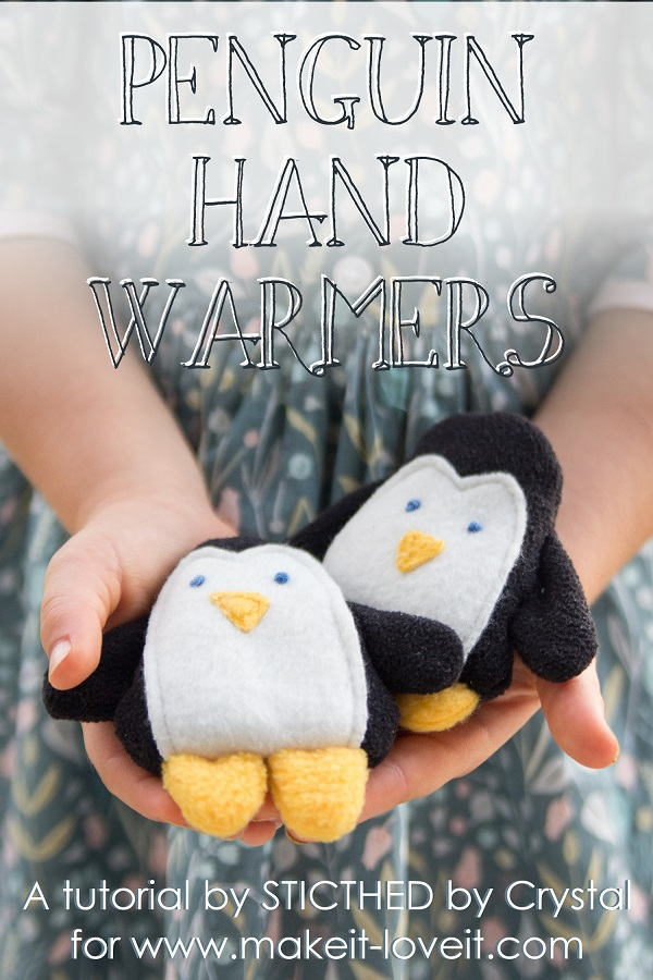 Sewing tutorial: Penguin hand warmers