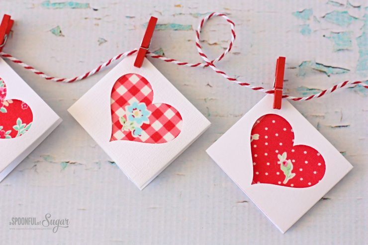 Tutorial: Scrap Fabric Love Notes