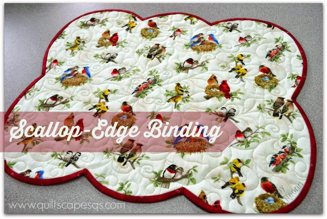 Sewing tutorial: Binding scalloped edges