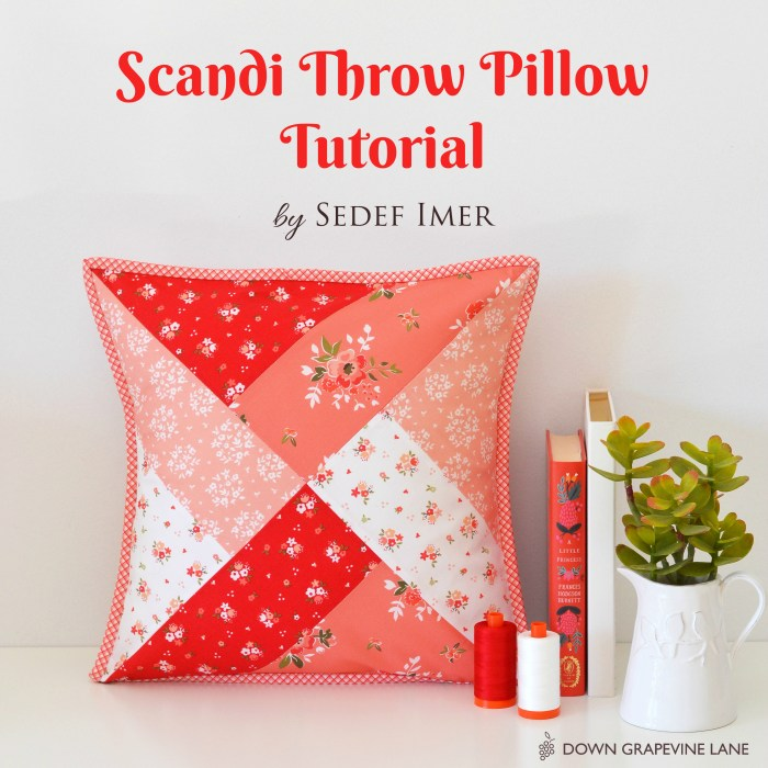 Sewing tutorial: Scandi patchwork pillow cover