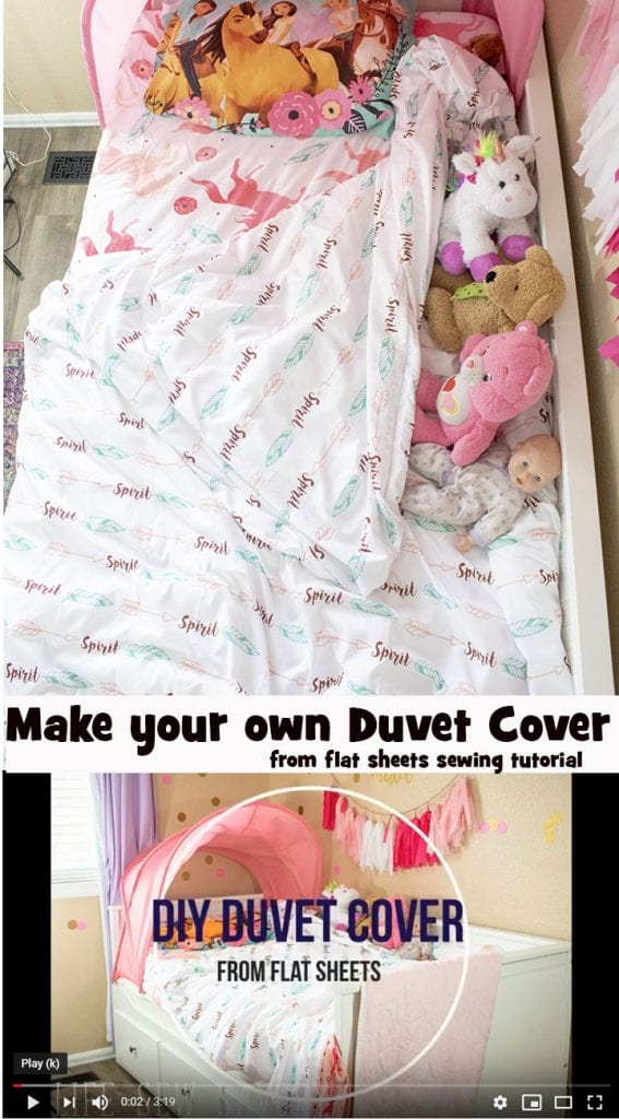 Sewing tutorial: Sew a duvet cover from flat sheets