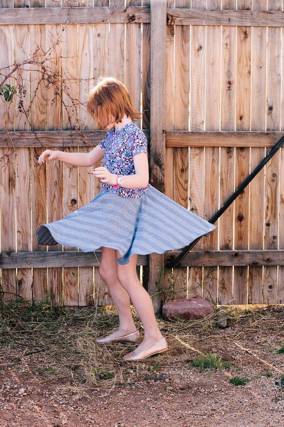 Sewing tutorial: Easy circle skirt dress