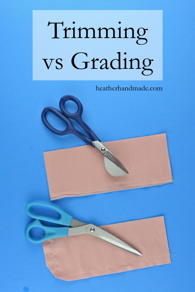 Sewing tutorial: Grading and trimming seams