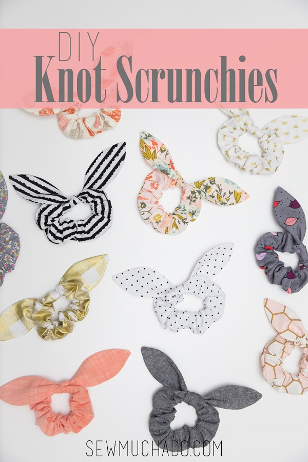 Sewing tutorial: Knot scrunchie