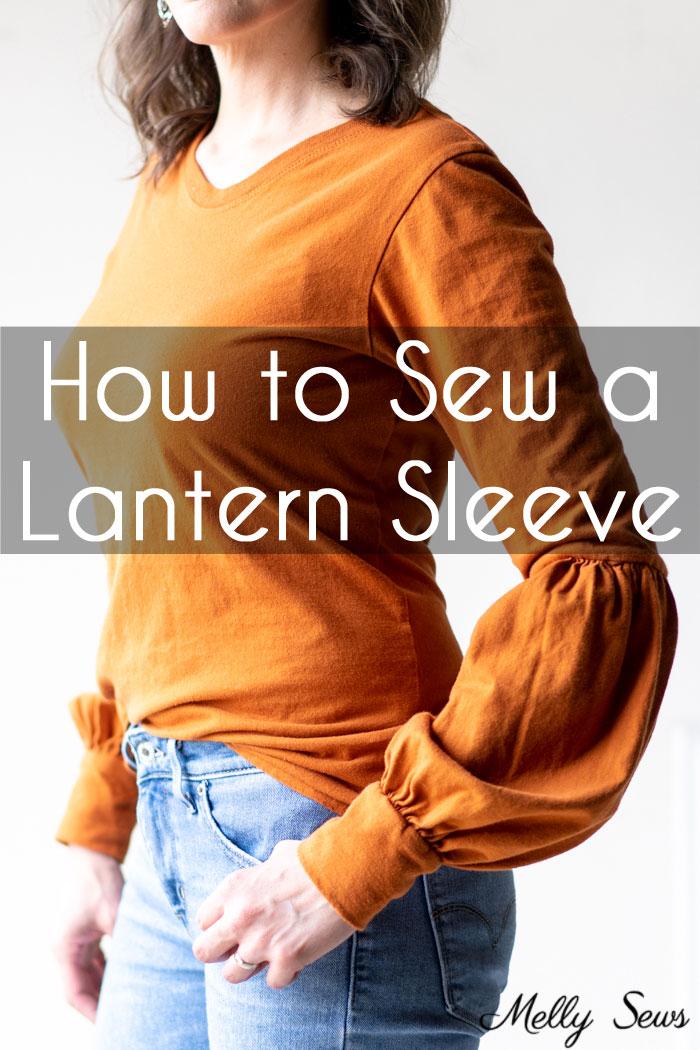 Sewing tutorial: Lantern sleeve t-shirt