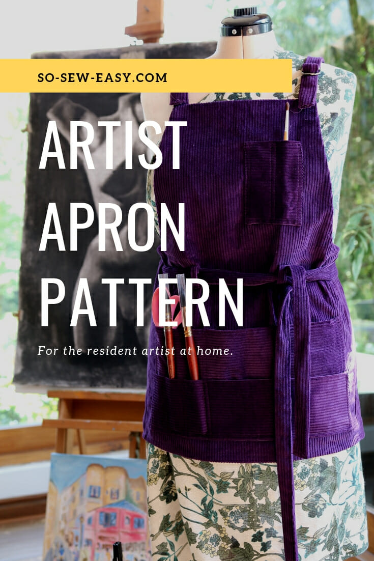 Free sewing pattern: Artist apron