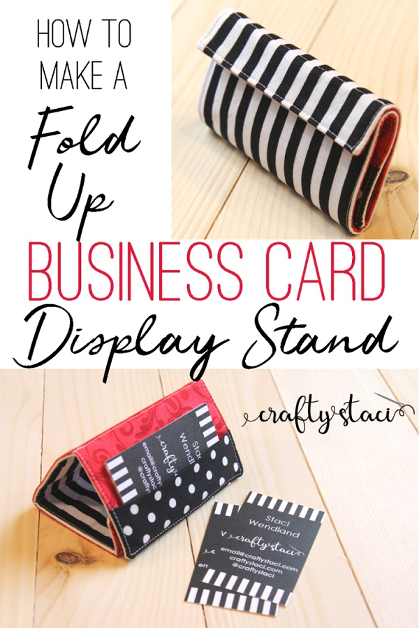 Sewing tutorial: Business card display stand and wallet