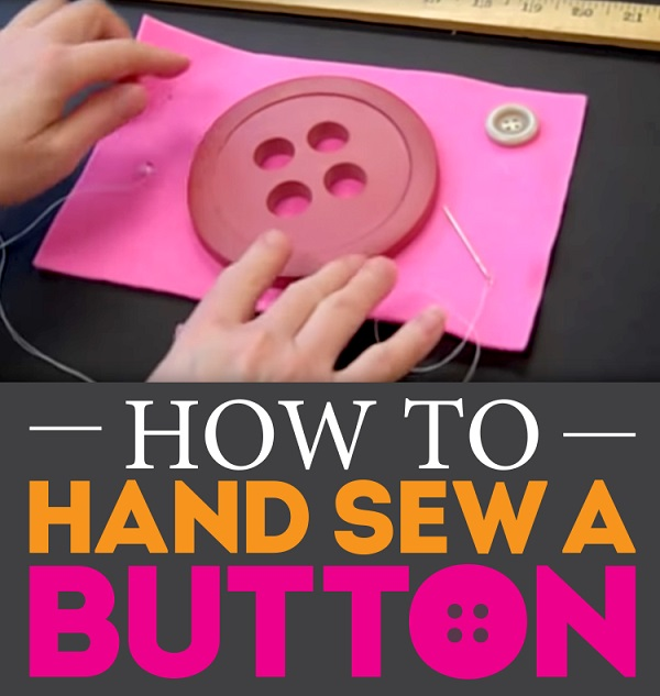 Video tutorial: How to sew a button