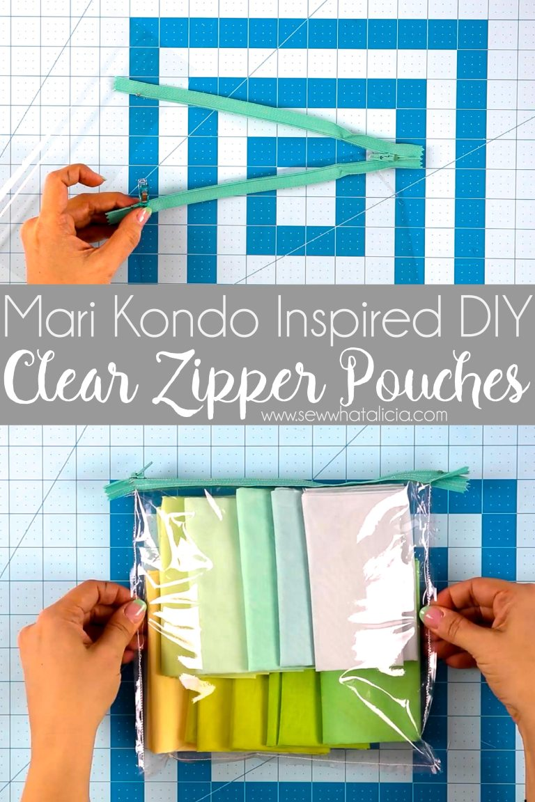 Sewing tutorial: Clear zipper pouches to organize your stuff