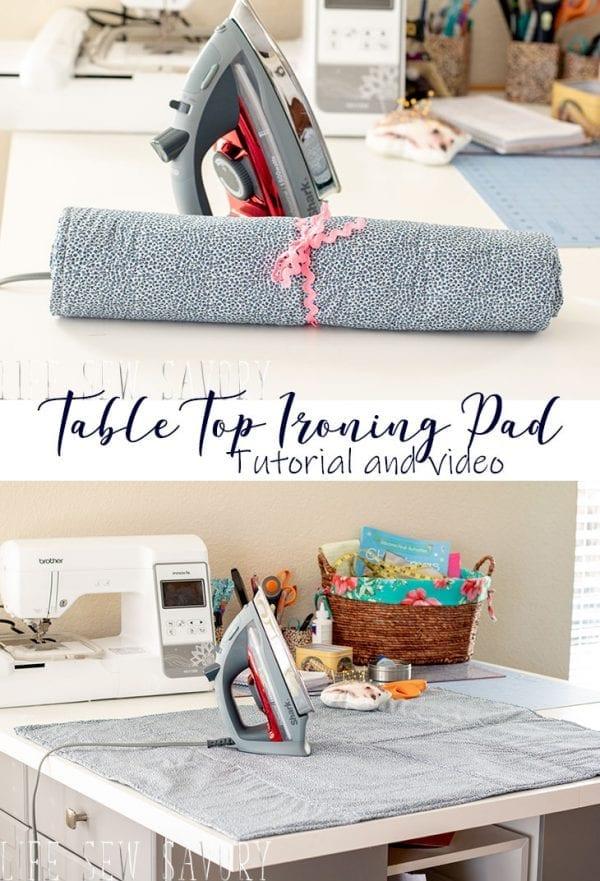 Sewing tutorial: DIY tabletop ironing pad