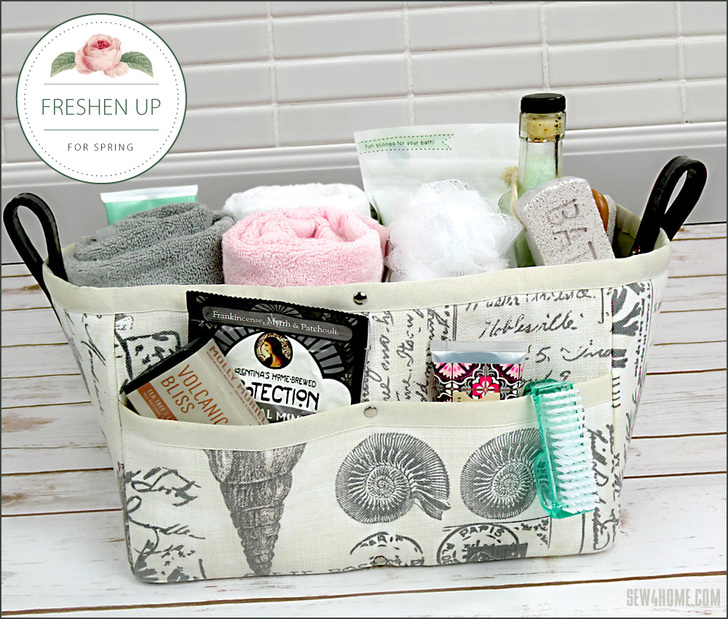 Sewing tutorial: Fabric organizer basket with removable divider