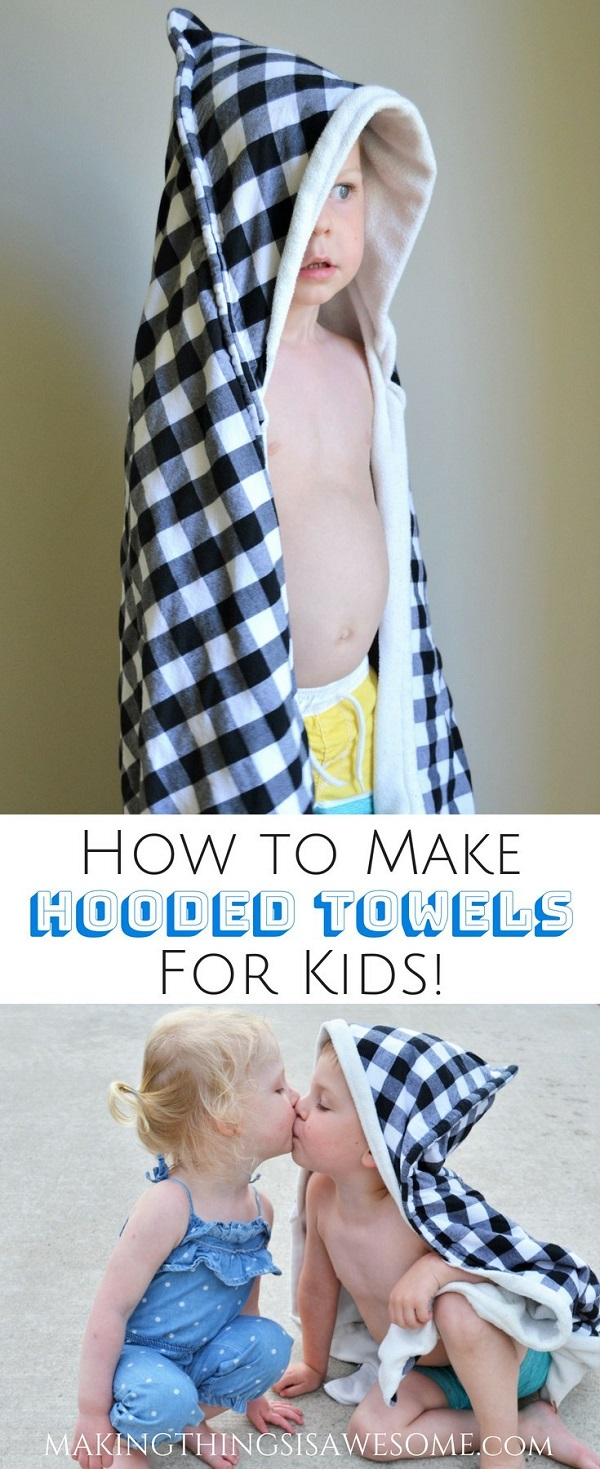 Sewing tutorial: Kids hooded towel