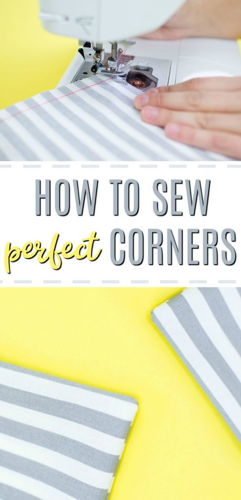 Sewing tutorial: Sewing perfect corners