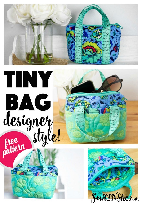 Sewing tutorial: Quilted mini tote