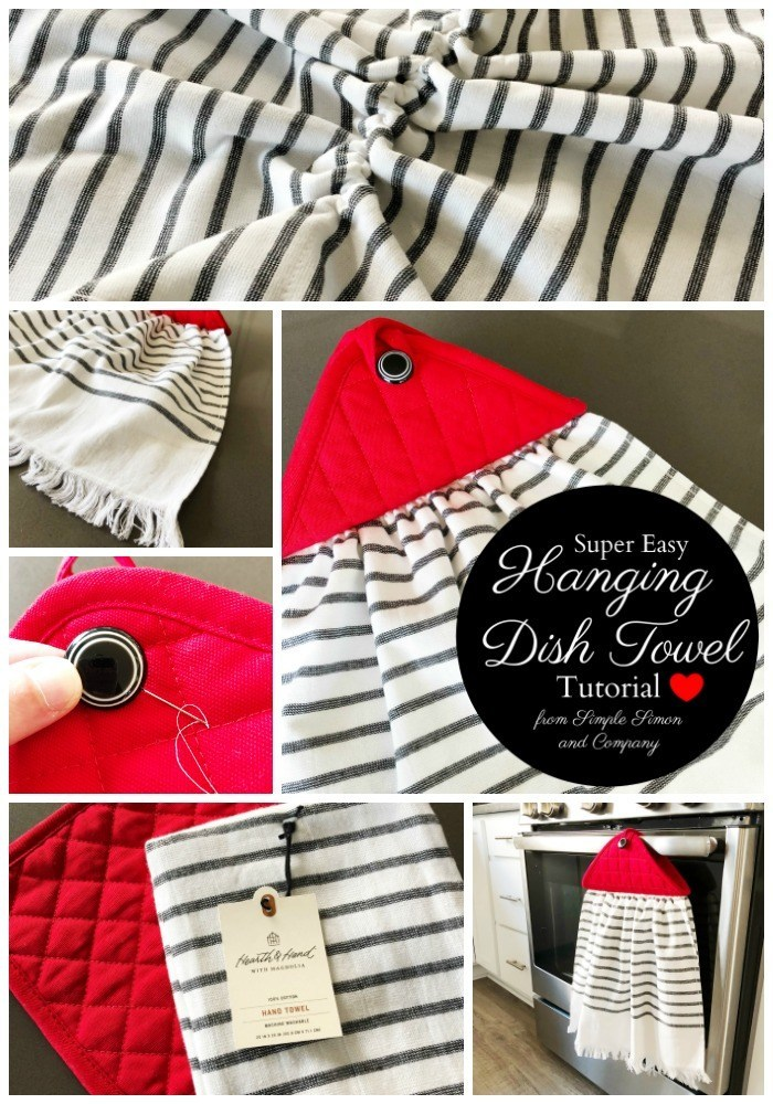 Sewing tutorial: Hanging dish towel