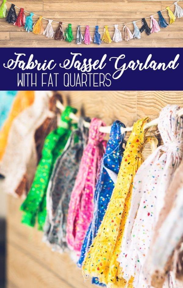 Tutorial: No-sew fabric tassel garland