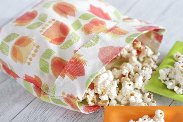 Sewing tutorial: Reusable microwave popcorn bag