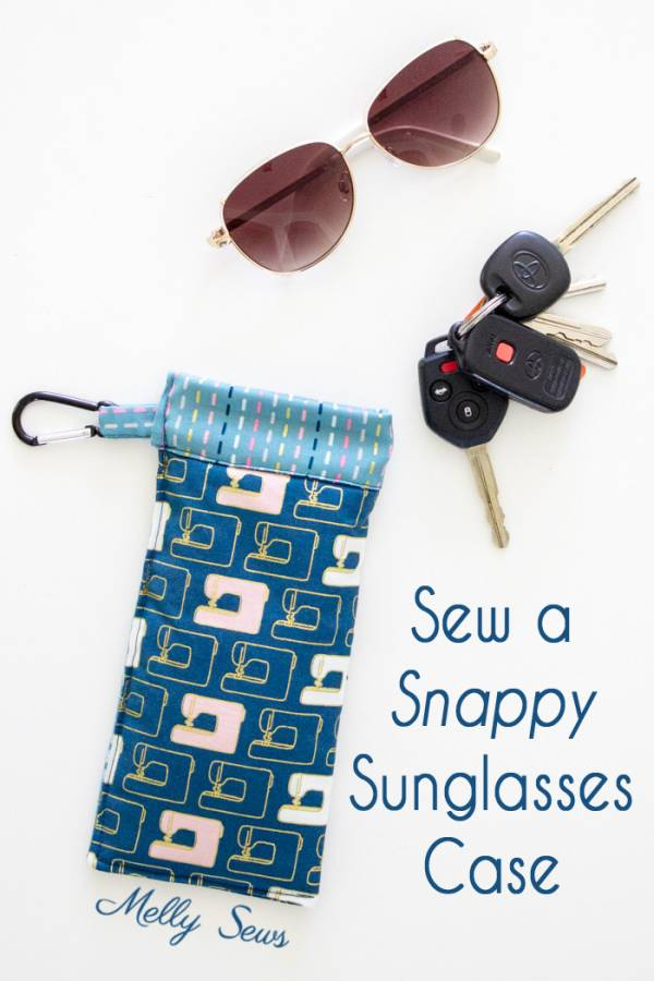Sewing tutorial: Snap top sunglasses case