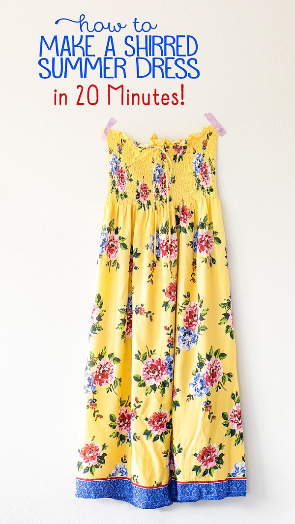 Sewing tutorial: Shirred maxi dress in 20 minutes