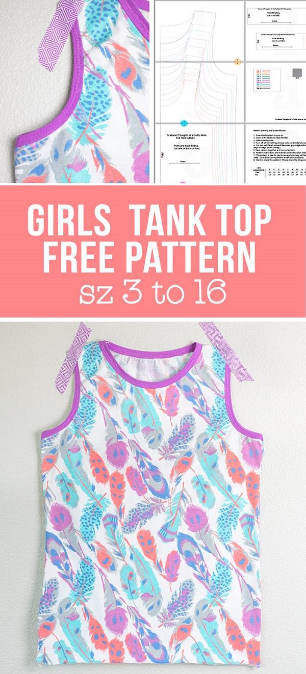 Free pattern: Girls tank top