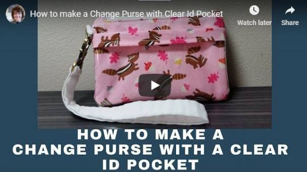 Sewing tutorial: Wristlet with clear ID pocket