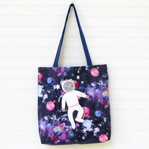 Sewing tutorial: Library tote bag you can make in an hour