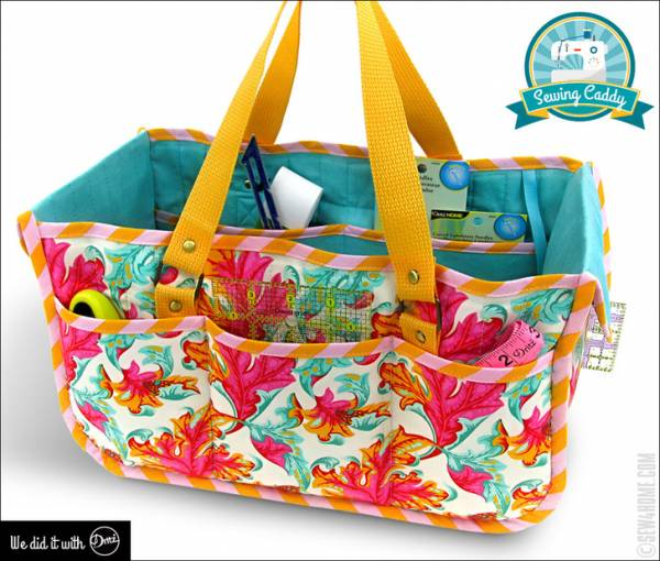 Sewing tutorial: Tabletop sewing notions caddy