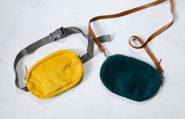 Sewing tutorial: Corduroy fanny pack or purse