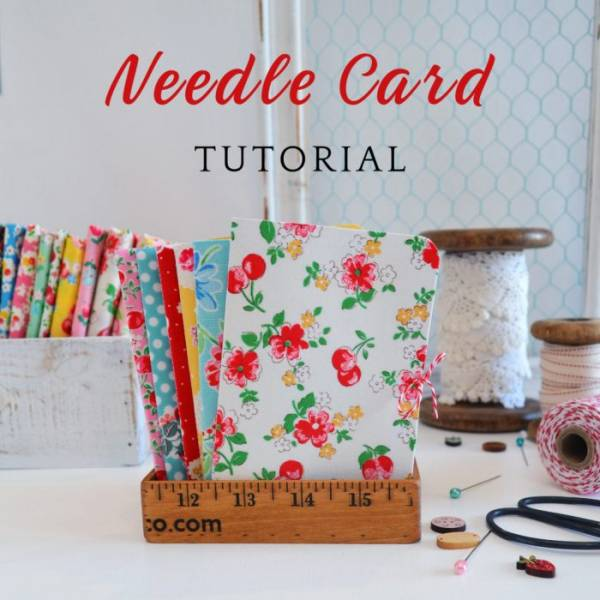 Sewing tutorial: Fabric covered needle book