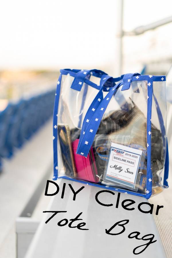Sewing tutorial: Clear vinyl stadium bag