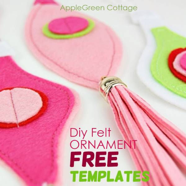 Free pattern: Mod felt ornaments for your Christmas tree