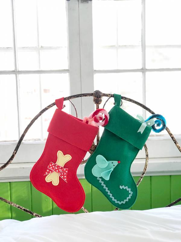 Free pattern: Christmas stocking for your pet