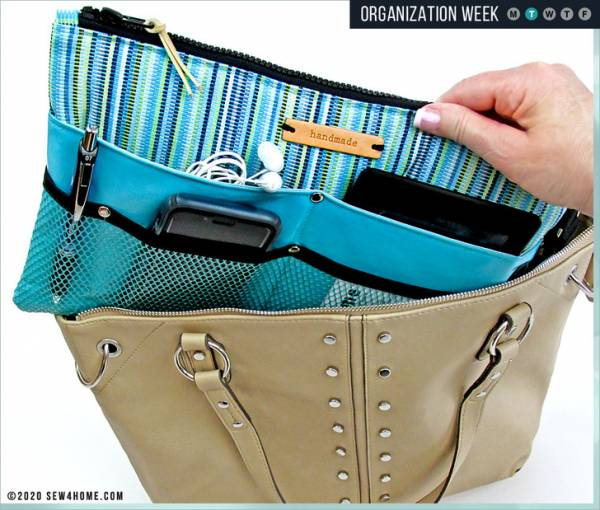 Sewing tutorial: Purse organizer with lots of pockets