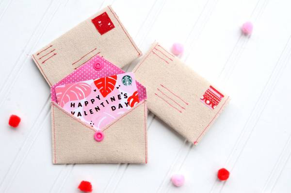 Sewing tutorial: Valentine gift card envelope