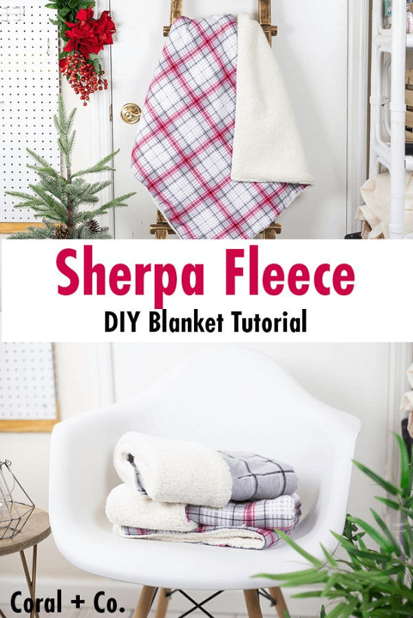 Sewing tutorial: How to make a sherpa fleece blanket