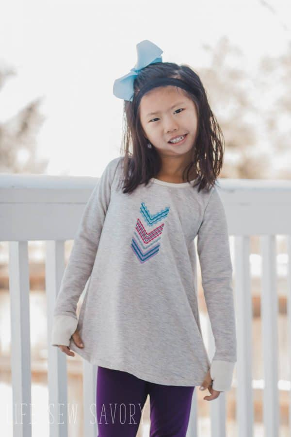 Free pattern: Girls long sleeve swing tee