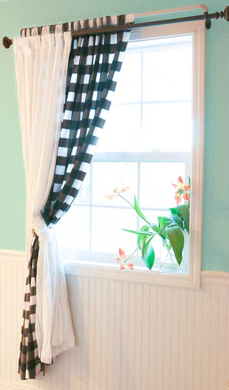 DIY sewing tutorial: Easy curtains with tabs or rod pocket