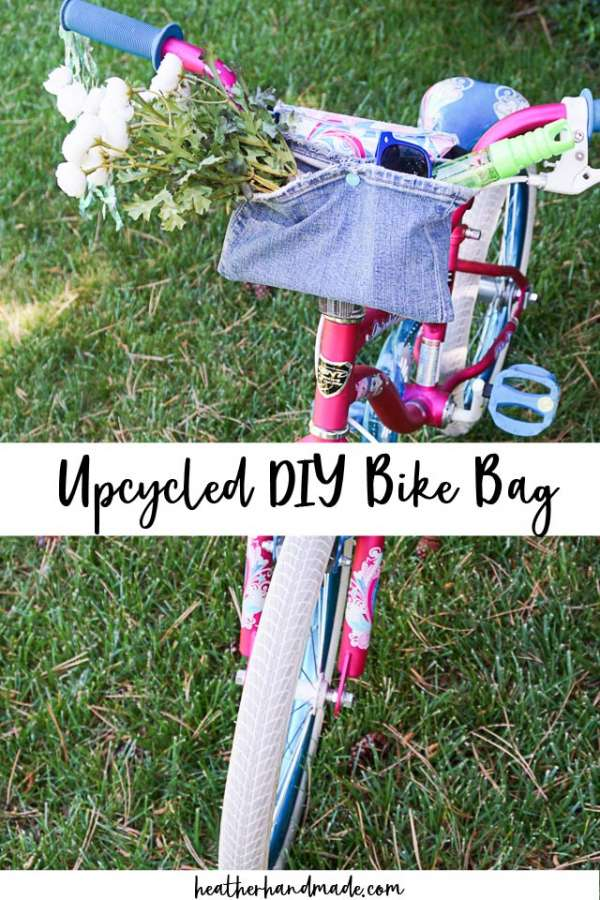 DIY Bicycle Handlebar Bag from Upycled Jeans