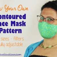 Contoured Face Mask in 3 Sizes - Free Sewing Pattern