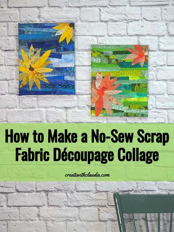 Scrap Fabric Decoupage Wall Art - DIY Tutorial