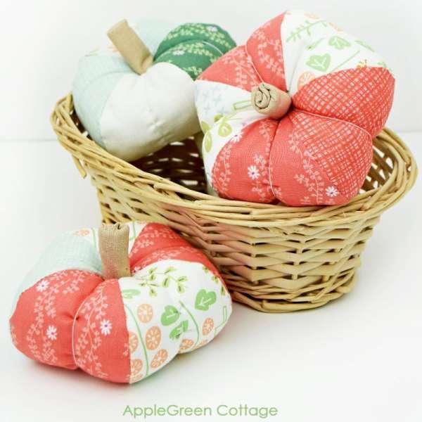 Fabric Pumpkins - Free Sewing Pattern