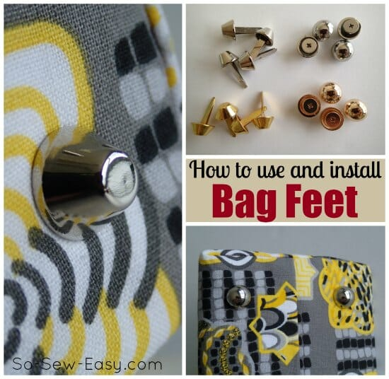 Installing Bag Feet - DIY Sewing Tutorial