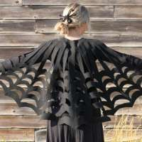Felt Spiderweb Cape, No Sewing Required - DIY Tutorial